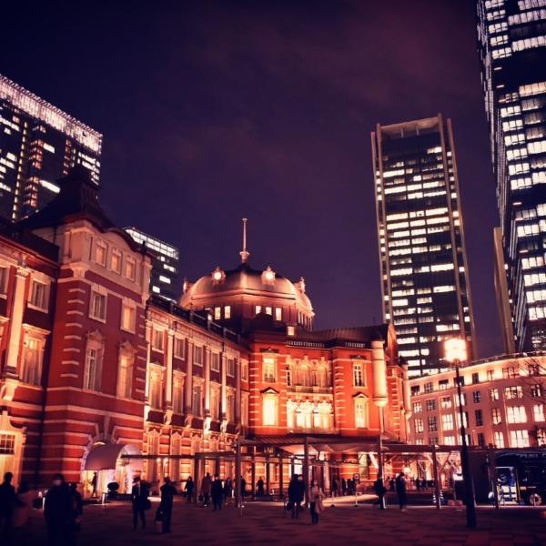 夜の東京駅20201228