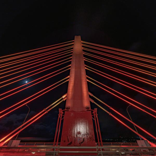 海中道路 平安座海中大橋のライトアップ 3