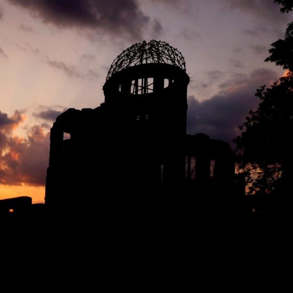 原爆ドームの夕焼け