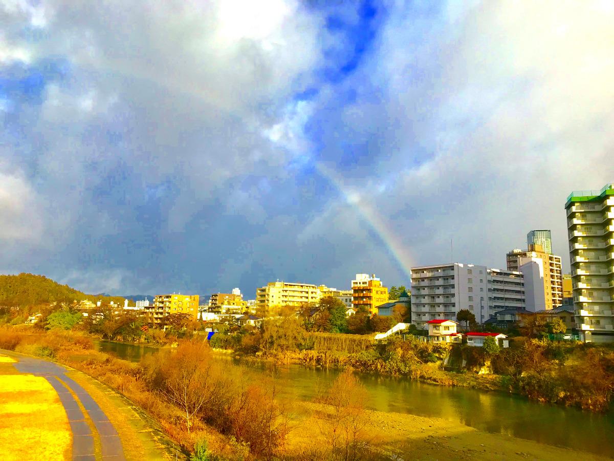 広瀬川を跨ぐ虹
