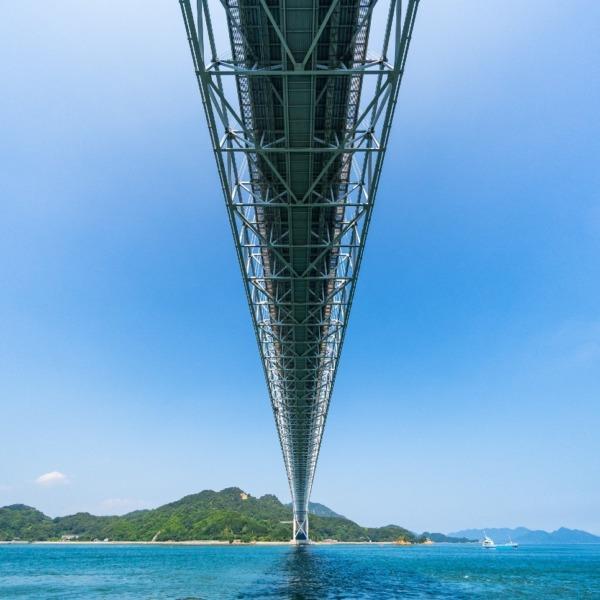 しまなみ海道 因島大橋を下から見上げてみた 2