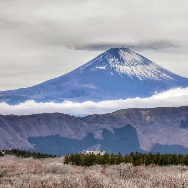 大涌谷からの富士山