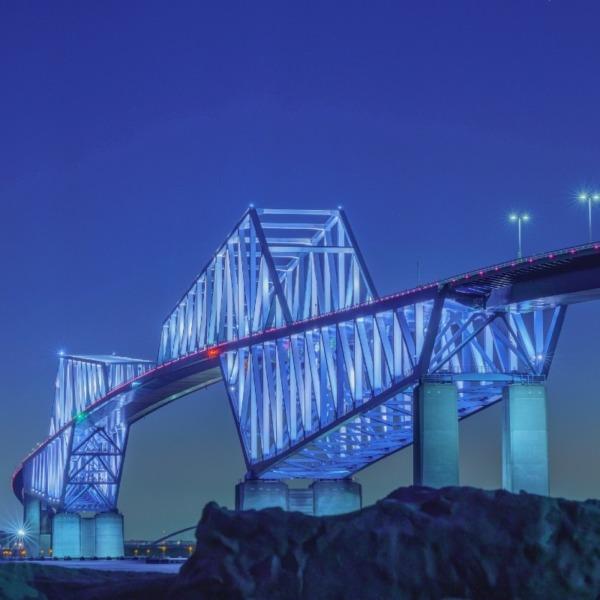 夜の東京スカイゲードブリッジ