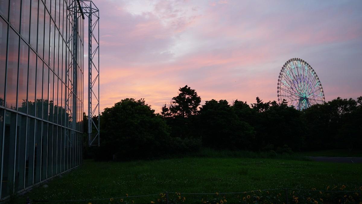葛西臨海公園マジックアワー💖観覧車点灯✨