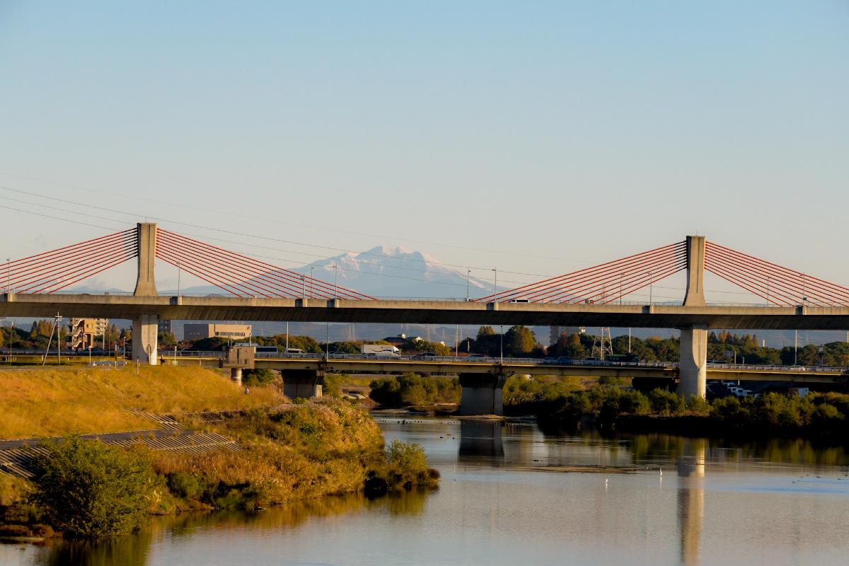 とんぼ橋と御嶽山