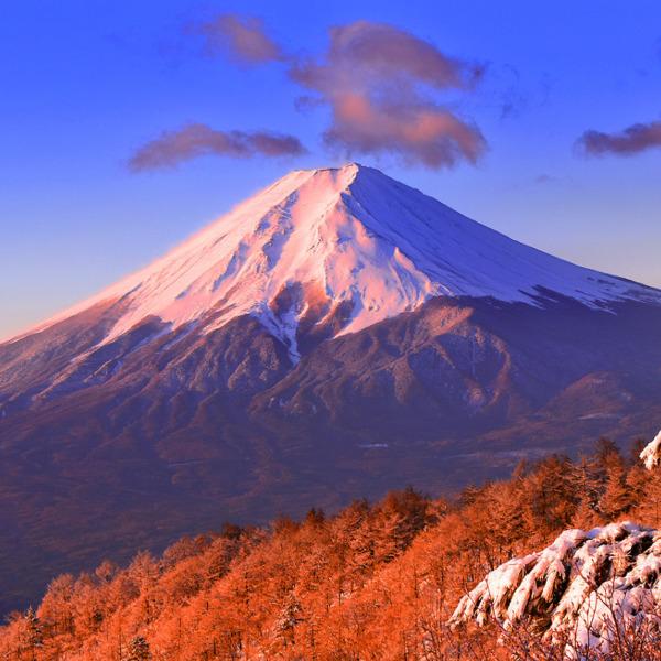 三ツ峠山から臨む赤富士