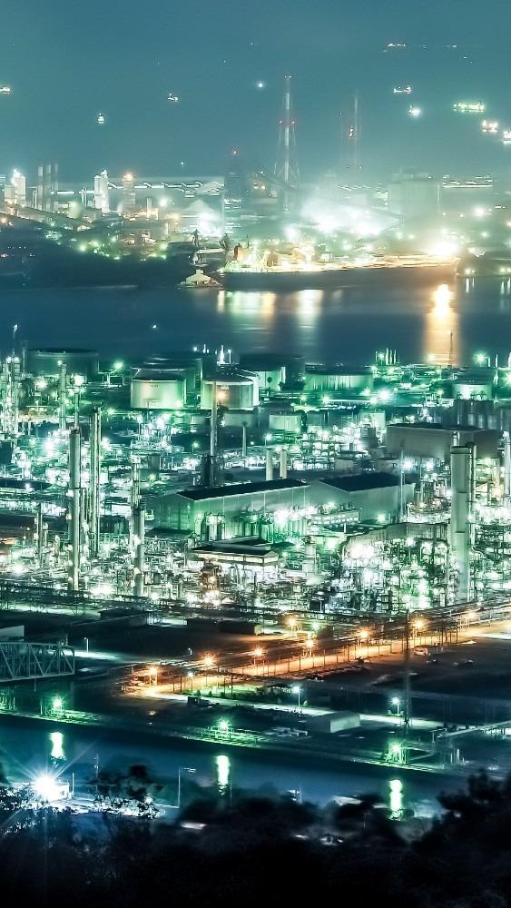 工場夜景(水島コンビナート)