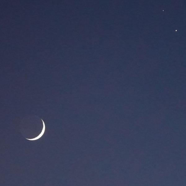 月齢2.66:土星と火星が接近中✨天体ショー