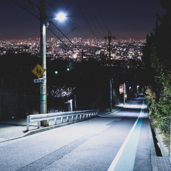 甲陽園の高台から見る三宮の夜景