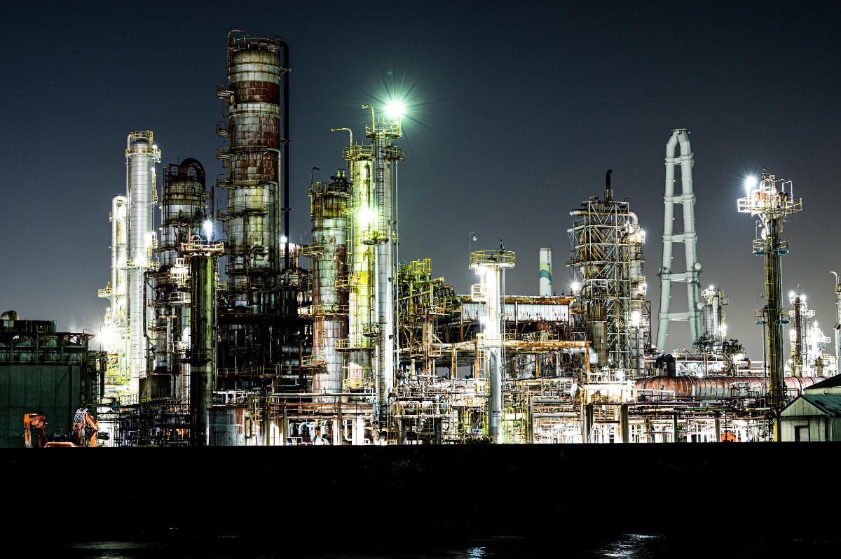 四日市市の工場夜景