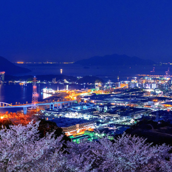 広島湾の夜景