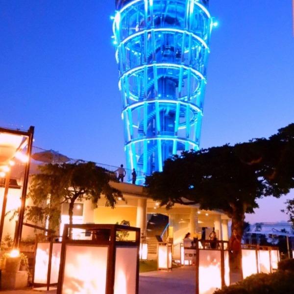 江の島シーキャンドルと江の島灯籠