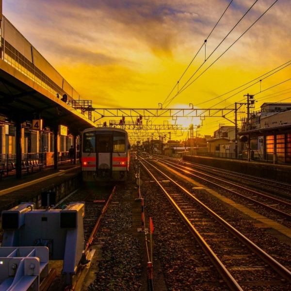 終着駅の風景