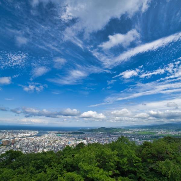 ―眉山から市内風景―