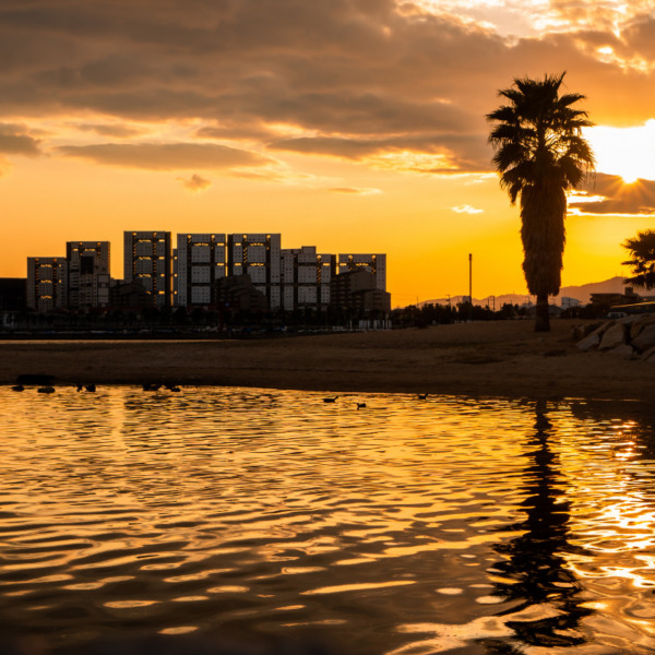 西宮御前浜の夕陽