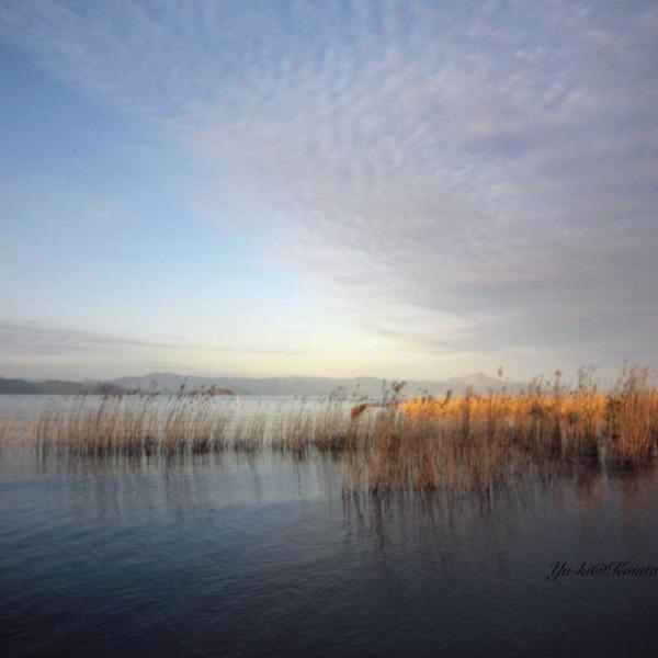 夕暮れの奥琵琶湖 湖底遺跡公園