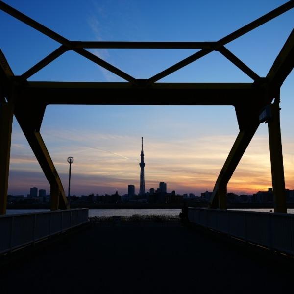 東四つ木_避難橋2021/マジックアワー