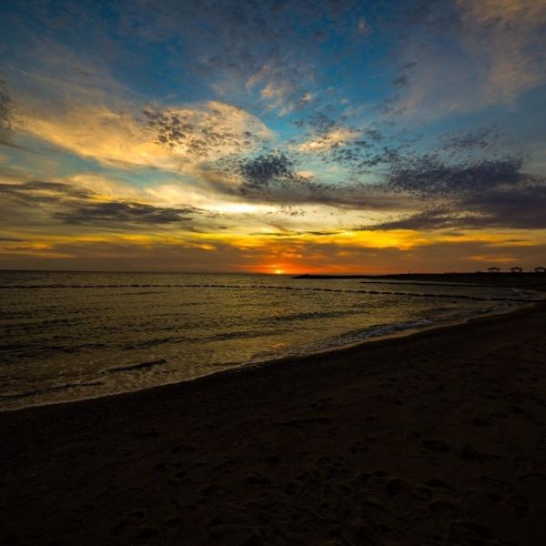 豊崎ちゅらsunビーチのサンセット