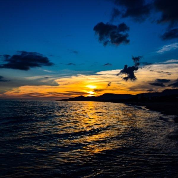 名護湾の夕景
