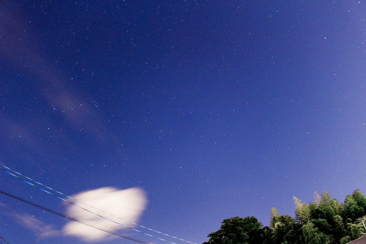 近所の星空