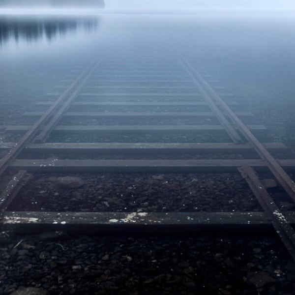 早朝の然別湖