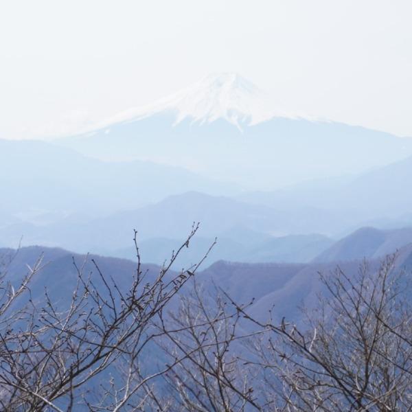 三頭山頂から