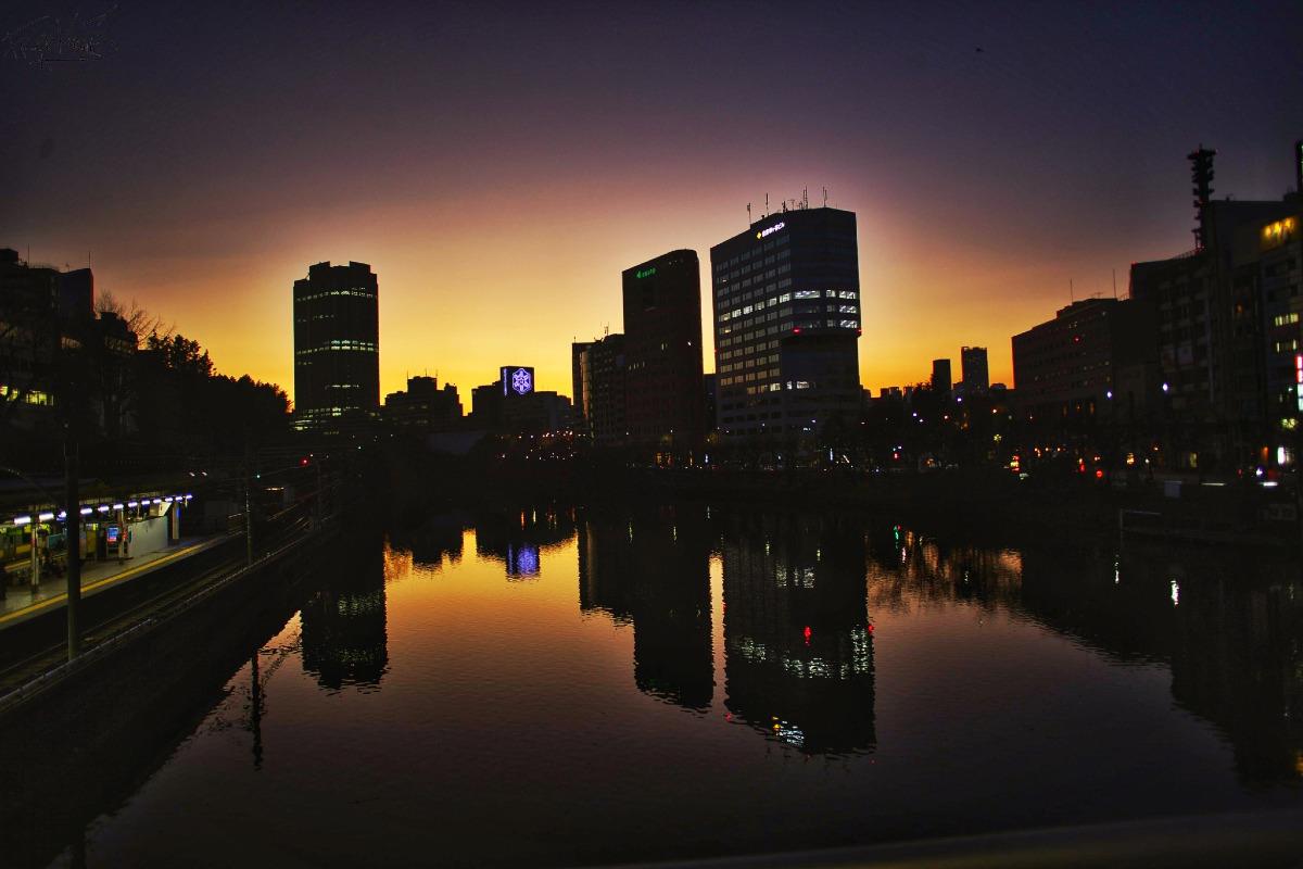 市ヶ谷の夕景