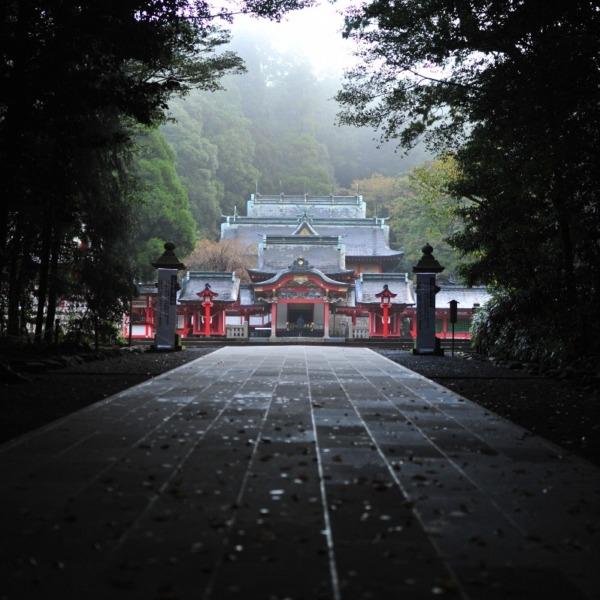 霧島神宮 朝