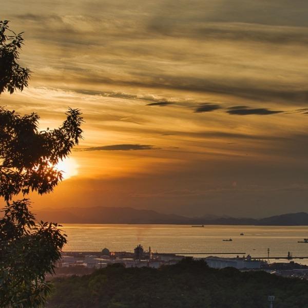 ー瀬戸内海に沈む夕日ー