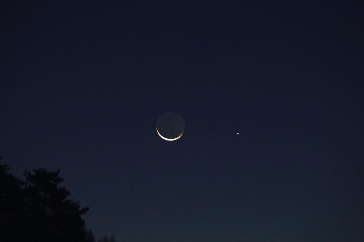 「月と水星が接近」