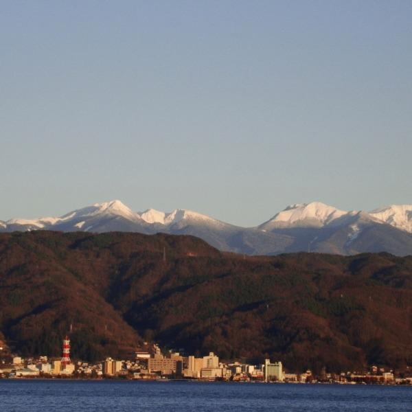 諏訪湖と八ヶ岳