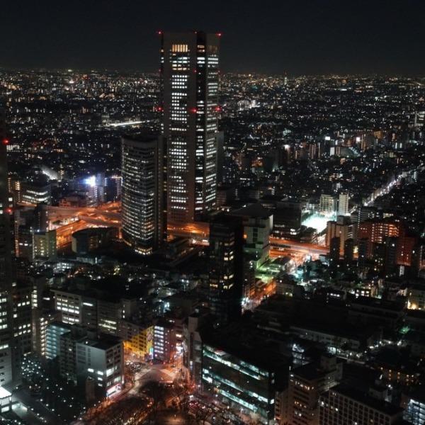 都庁夜景🆒:平和と希望の灯り✨