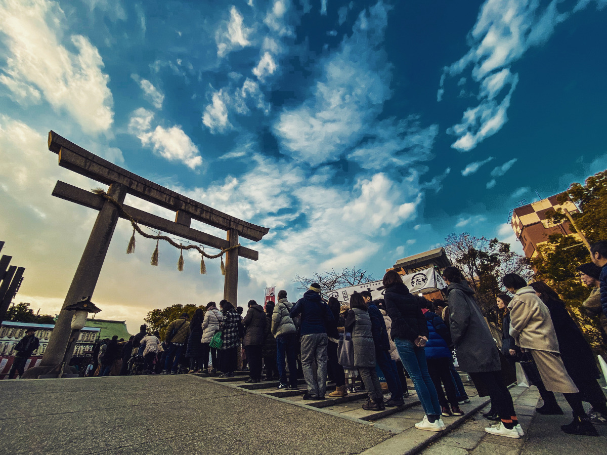 生国魂神社の初詣