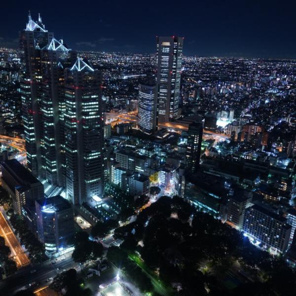 都庁夜景/時空間旅行・星空へのロマン