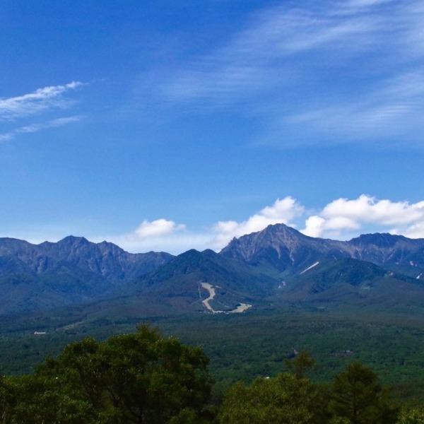 「平沢峠から望む八ヶ岳連峰」