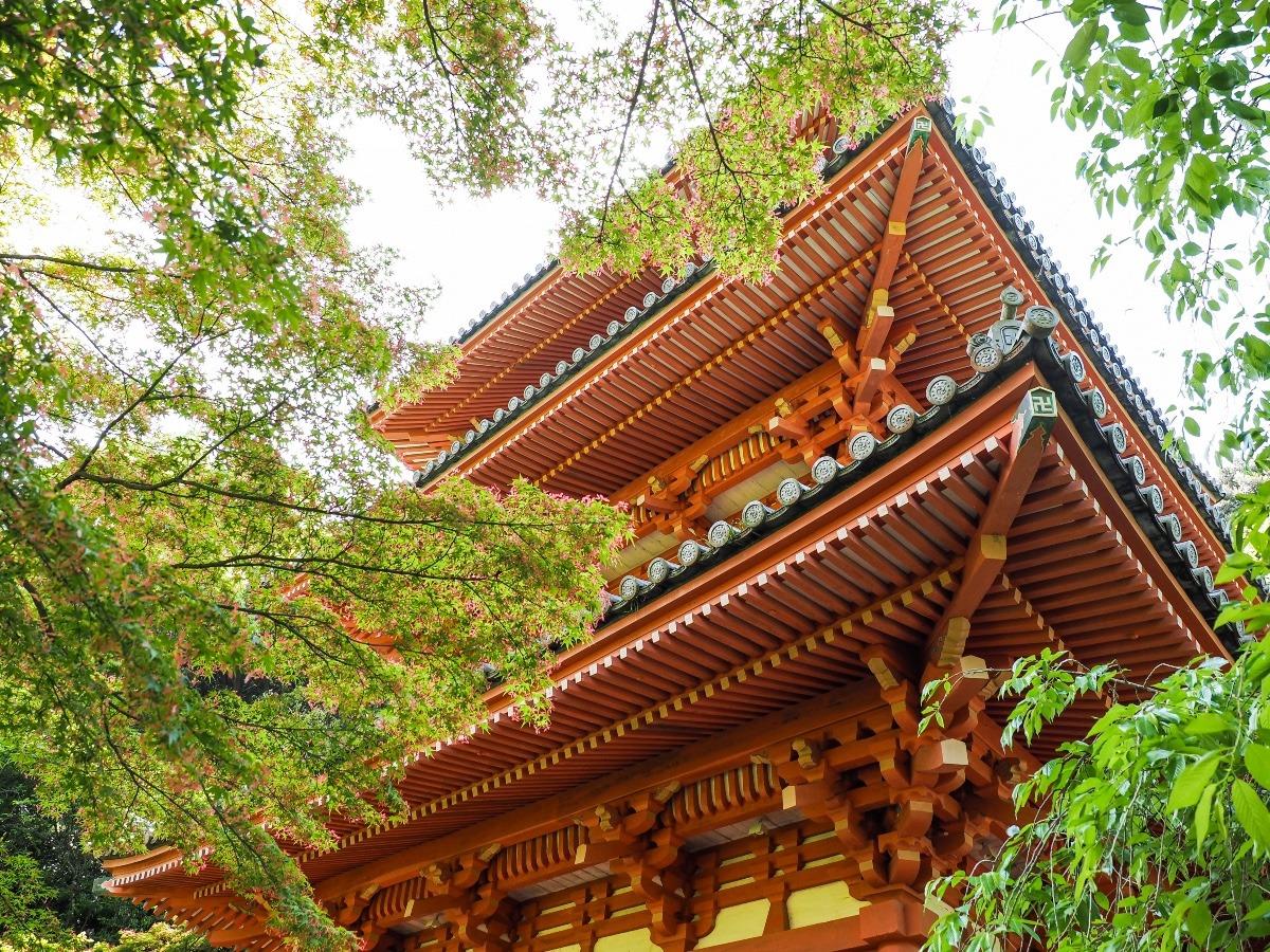 福岡の清水寺三重塔