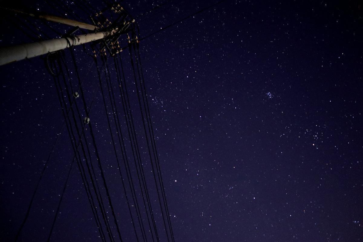 街からの星空