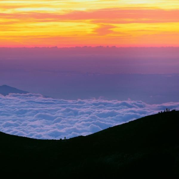 日本一高い場所で迎える朝