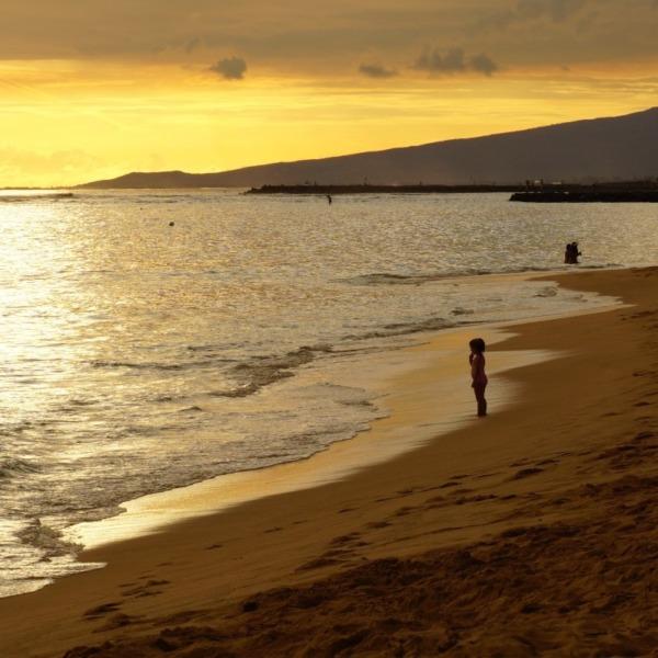 海辺の夕景