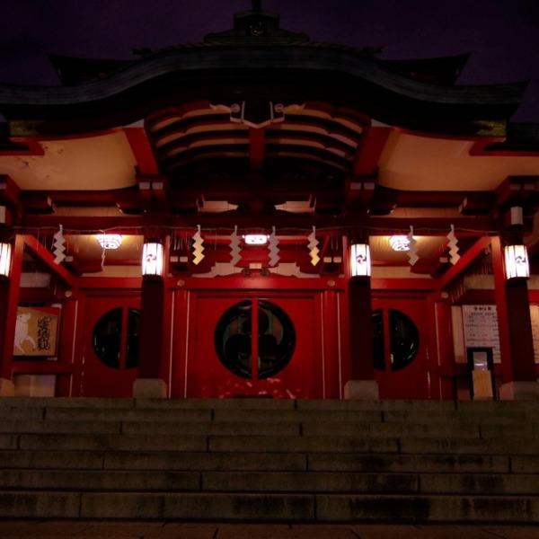 夜の富岡八幡宮