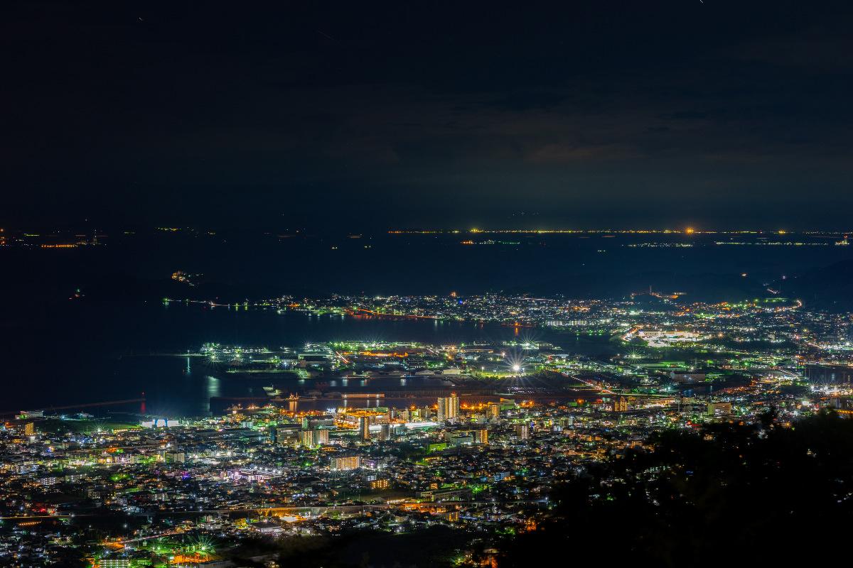 三河湾の夜景