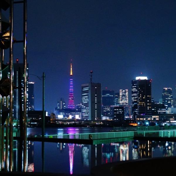 晴海埠頭と東京タワーコラボ/優美な煌めき✨