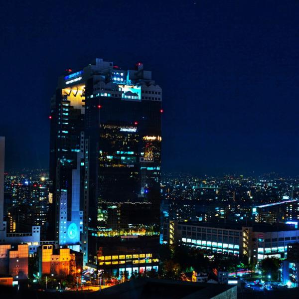 JR大阪駅からの夜景