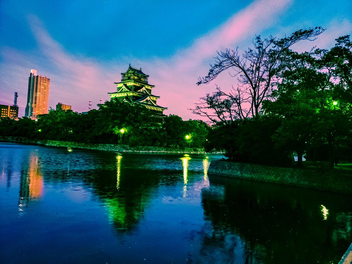 広島城お堀端