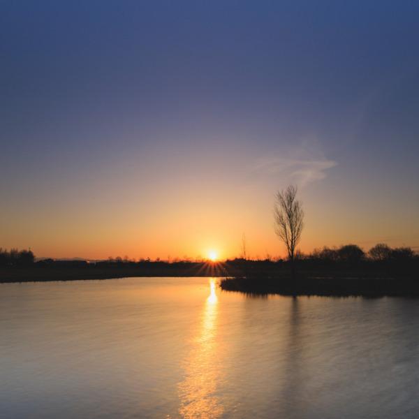 上堰潟公園の夜明け