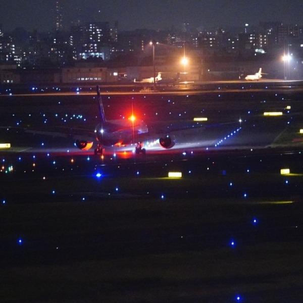 羽田空港夜景:スカイツリーコラボ_心の灯✨