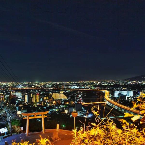 大阪と兵庫の境界からの夜景