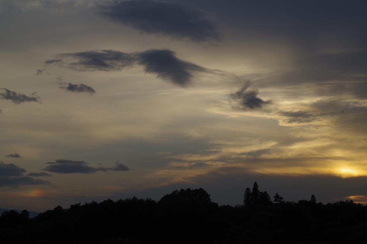 「夕陽と幻日」
