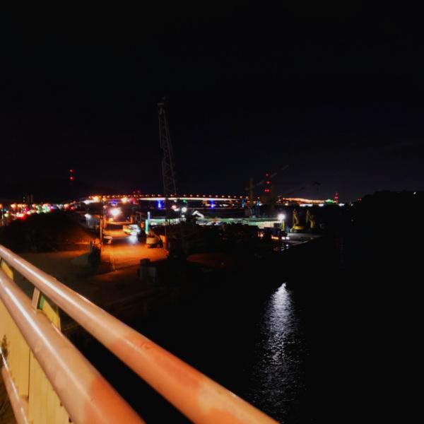 西明神橋からの夜景
