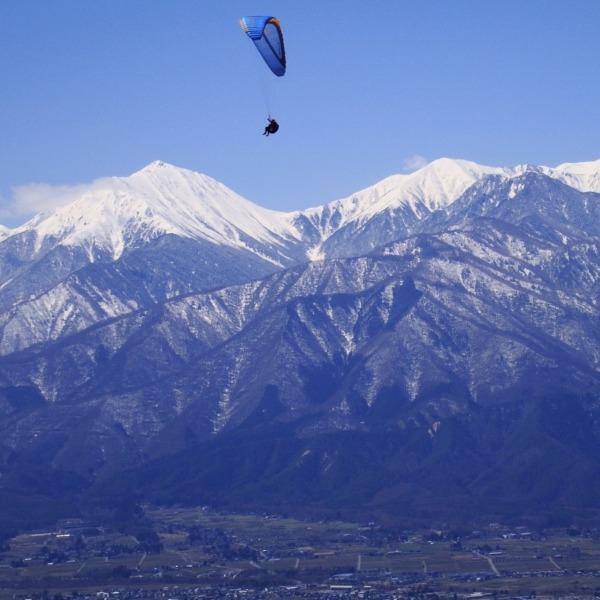 長峰山から、北アルプス常念岳・横通し岳を望みました。